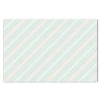 Lenço de papel listrado verde, azul, e cinzento