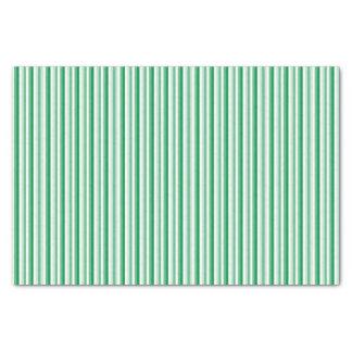 Lenço de papel listrado verde do bastão de doces