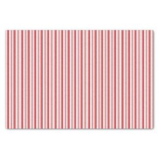 Lenço de papel listrado vermelho do bastão de