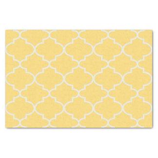 Lenço de papel marroquino amarelo da estrutura da