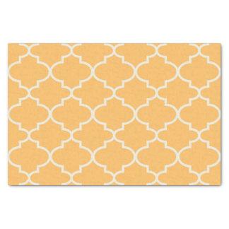 Lenço de papel marroquino amarelo do teste padrão