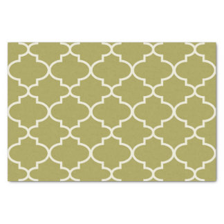 Lenço de papel marroquino verde do teste padrão da