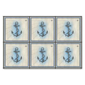 lenço de papel náutico da âncora do navio