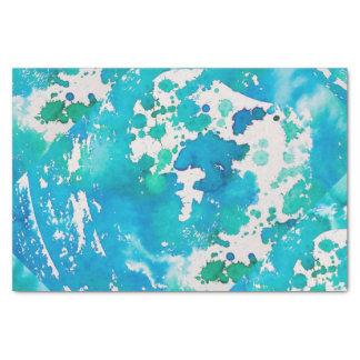 Lenço de papel no azul de oceano