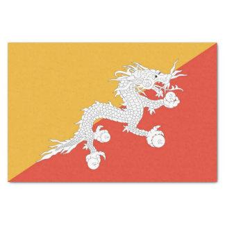 Lenço de papel patriótico com a bandeira de Bhutan