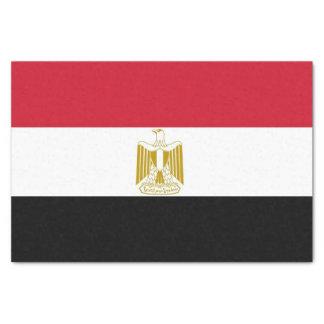 Lenço de papel patriótico com a bandeira de Egipto