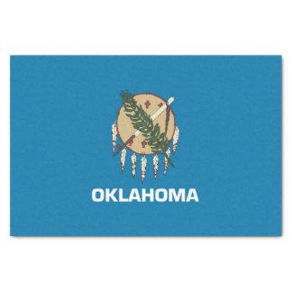 Lenço de papel patriótico com bandeira Oklahoma,