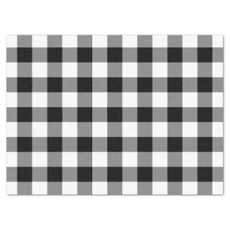Lenço de papel preto e branco do teste padrão do