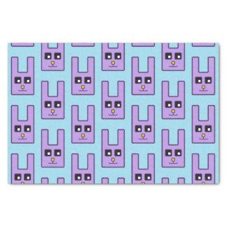 Lenço de papel quadrado do coelhinho da Páscoa