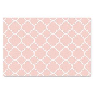 Lenço de papel rosa pálido de Quatrefoil do