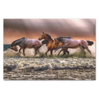 Lenço de papel Running dos cavalos