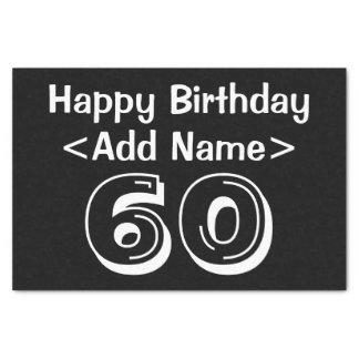 Lenço de papel temático personalizado do 60th