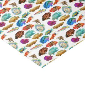 Lenço de papel tropical dos peixes do aquário