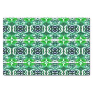 Lenço de papel verde do coração do dia de Patrick