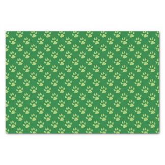 Lenço de papel verde do Natal do impressão da pata