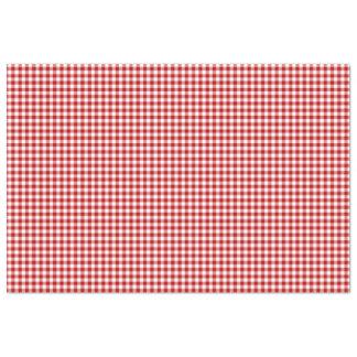 Lenço de papel vermelho & branco do teste padrão