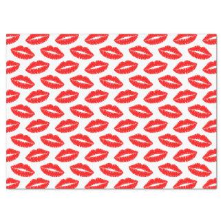 Lenço de papel vermelho do beijo do batom