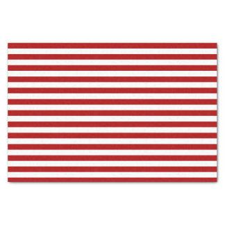 Lenço de papel vermelho do feriado da listra