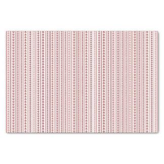 Lenço de papel vermelho e cor-de-rosa da listra do