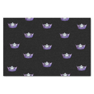 Lenço de papel violeta da coroa da senhorita