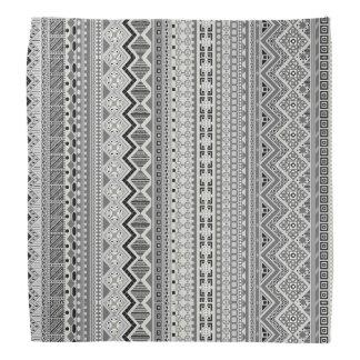 Lenço Design asteca cinzento bonito dos padrões