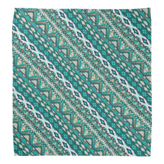Lenço Design asteca dos padrões do design verde bonito
