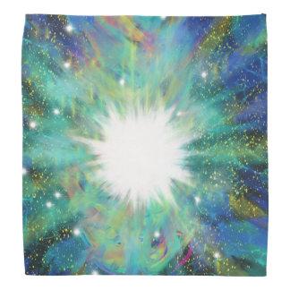 Lenço Design azul da arte abstracta da estrela do Aqua