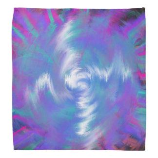 Lenço Design espiral cor-de-rosa azul da arte abstracta