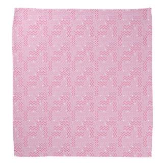 Lenço Design Funky de Memphis do rosa Pastel