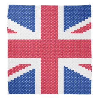 Lenço Design original Union Jack do ponto de cruz