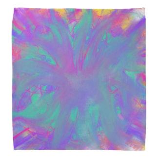 Lenço Design roxo azul da pintura da arte abstracta da