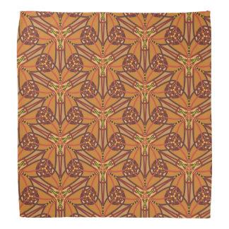 Lenço Design tribal em cores da terra