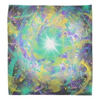 Lenço Design verde da arte abstracta da estrela do