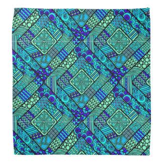 Lenço Do abstrato verde do azul de Boho teste padrão