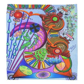 """Lenço Do """"Bandana feito sob encomenda colorido de"""