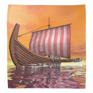 Lenço Drakkar ou navio de viquingue - 3D rendem