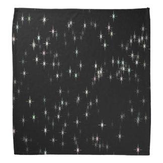 Lenço Estrelas pastel coloridos/fundo preto