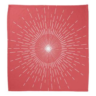 Lenço Explosão vermelha da estrela