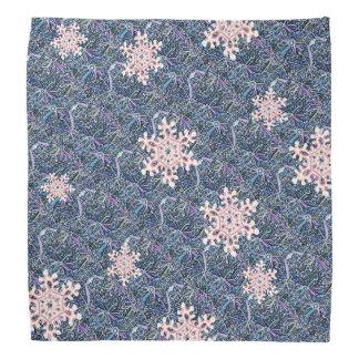 Lenço Flocos de neve gelados modelados