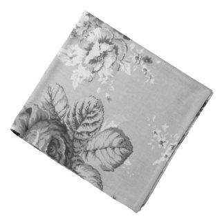 Lenço floral de Toile do vintage moderno preto &