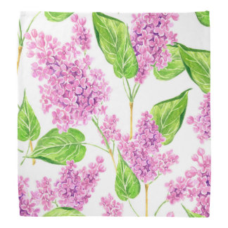 Lenço Flores cor-de-rosa do lilac da aguarela