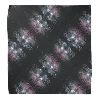 Lenço Fogos-de-artifício coloridos no preto