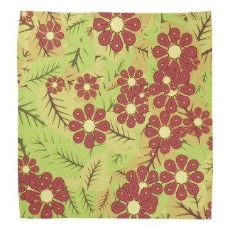 Lenço Folha e flores