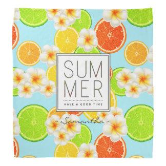 Lenço Frutas frescas do verão e flores exóticas do