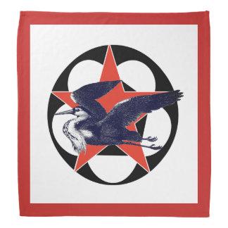 Lenço Garça-real vermelha do cinza da estrela