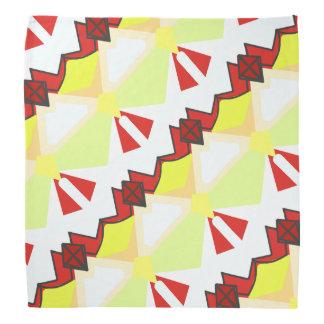 Lenço Geometria diagonal abstrata do vermelho e do
