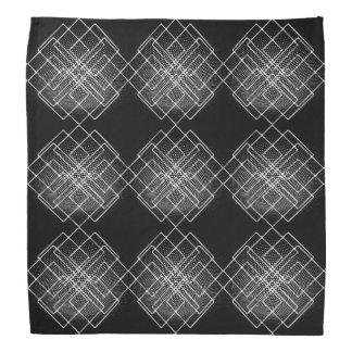 Lenço Geométrico preto e branco