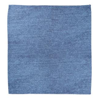 Lenço Imagem branca azul do olhar da textura da sarja de