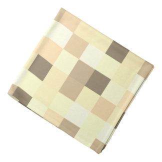 Lenço Impressão Checkered do teste padrão do quadrado do