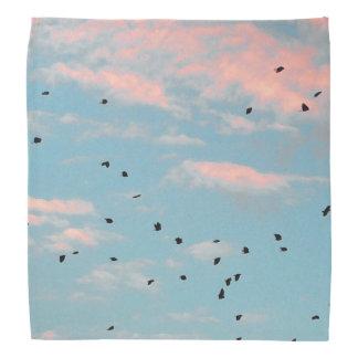 Lenço Impressão Dalmatian do céu